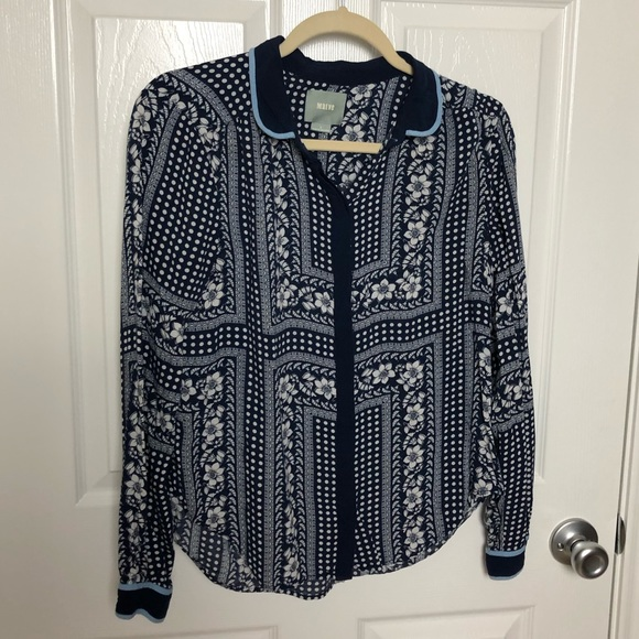 Anthropologie Tops - Maeve Patterned Button Down